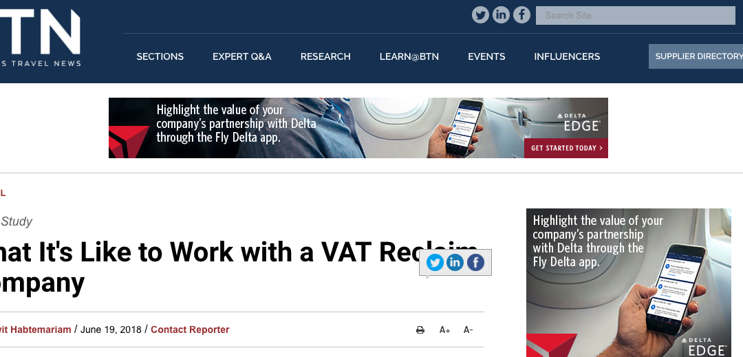 What It's Like to Work with a VAT Reclaim Company